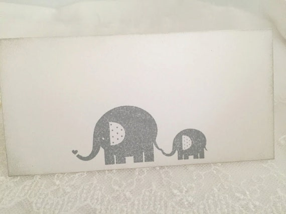 Elephant Baby Shower Place cards / Placecards Food Buffet Candy Bar Signs Vintage