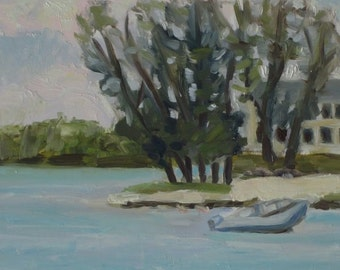 Original Plein Air Oil Painting Florida Seascape