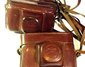 Two diffirent original Leather Cases. 1950th made. From Kiev-3A, Kiev-2 cameras. Original!