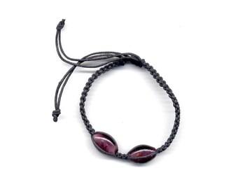 Hemp Bracelet Plum