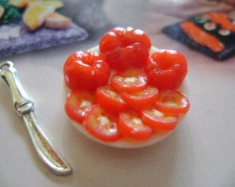 Dollshouse Food , tomatoes platter