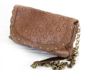 Daisy, Vintage, 1970s Brown Leather Satchel Handbag from Paris
