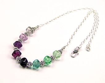 Fluorite Sterling Silver Necklace - N860