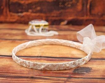 STEFANA Wedding Crowns - Orthodox Stefana - Bridal Crowns AMELIE ivory - One Pair