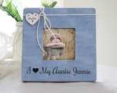 I Love My Aunt Personalized Picture Frame, New Aunt New Uncle Gift, New Baby Announcement