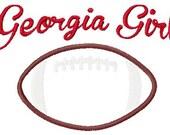 Georgia Bulldog Girl Football Machine Embroidery and Applique Design 5x7 INSTANT DOWNLOAD Joyful Stitches