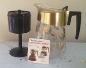Douglas Perculator Coffee Pot / Glass Coffee Pot / Retro Perk Coffee Pot / Vintage Coffee Pot / Retro Coffee Maker /