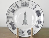New York City Dinner Plate Decorative Plate Empire State Building Brooklyn Bridge Soho New York City Souvenir Country Home City Home