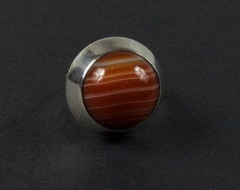 Super Modern Stone Ring in Sterling Silver