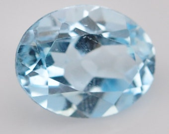 2.20 Ct. Splendid Natural Genuine Gemstone Oval Cut Sky Blue Topaz - Free shipping