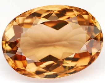 15.20 Ct. Graceful Natural Gemstone Oval Shape Imperial Champagne Topaz - Free shipping