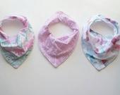 Baby Girl Bandana Bib - Bib Gift Set - Baby Bib - Tribal Baby Bib - Purple Baby Bib - Drool Bib - Baby Shower Gift - Toddler Bandana Bib
