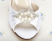 Wedding Shoes - Pearl Wedding Shoes - Pearl Bridal Shoes - Bespoke Wedding Shoe -Crystal Wedding Shoe- Custom Wedding Shoe - Design Your Own