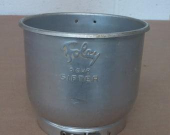 Vintage Aluminum Foley Flour Sifter