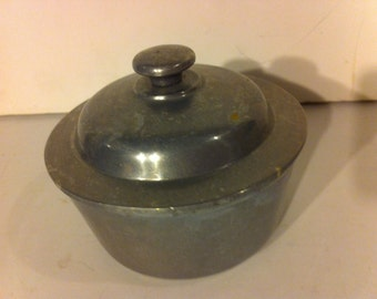 Vintage Pewter Dish with Lid