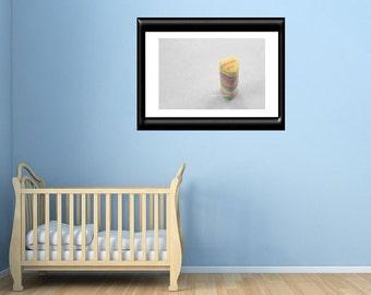 Nursery/Childs Room Wall Decor Dream Big Candy Hearts Fine Art Photography White Yellow Purple Blue Green Pink Inspirational Wall Art