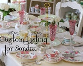 Custom Listing- Boutique Custom Tea Party Invitations - Teapot  x 12