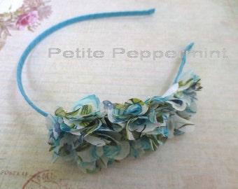 Turquoise Baby headband, baby girl headband, girl headband, toddler headband, Flower Girl Headband,girl hard headband