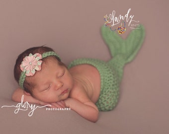 Mermaid Cocoon and Headband