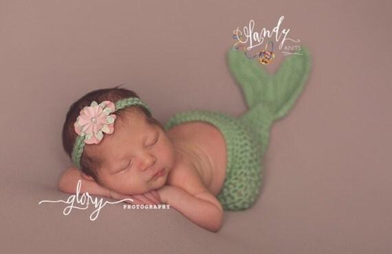 Mermaid Cocoon and Headband
