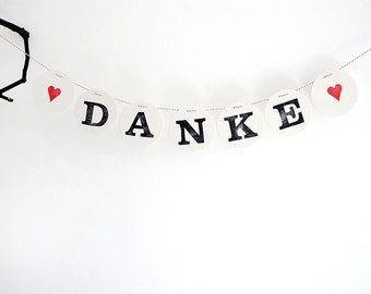 Danke Garland // wedding bunting by renna deluxe