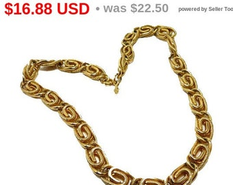 Vintage Sarah Coventry Necklace - Goldtone Chunky Paper Clip Chain