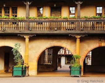 Fine Art Color Travel Photography of Customs House in Colmar France