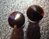 SPARKLING BLACK  rhinestone ear plugs / rivoli BLACK rhinestone gauges tunnels / 6-12mm