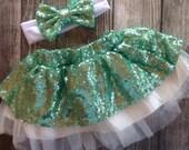 Mint birthday Skirt Satin sparkle Sequin holiday Skirt Birthday outfit Sparkle Skirt Baby Girl Sequin Glitter Skirt mint birthday outfit