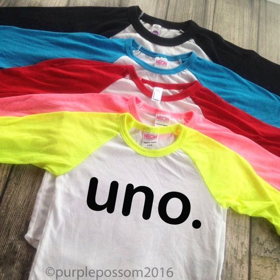 Birthday UNO Kids Birthday Shirt Boy Or Girl By PurplePossom