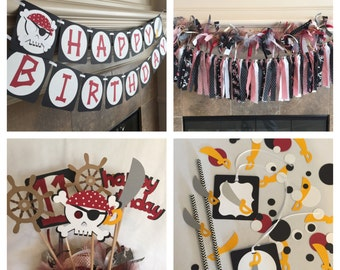Pirate Party Decorations - Pirate Theme Party - Pirate Birthday Party - Pirate Party Banner - Pirate Photo Prop - HeartfeltParty