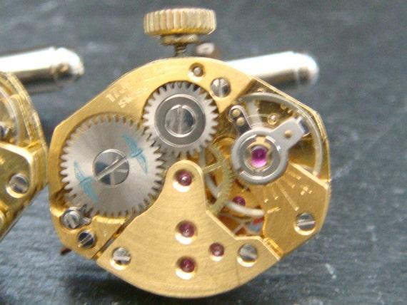 Stunning rare set of Watch Movement Cuff links ideal birthday gift