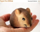 55% OFF Very cute Russian flocking toy tiny Mouse from Soviet Unions 70s