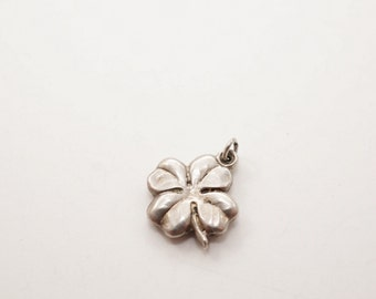 Vintage Sterling Puffy Clover Charm