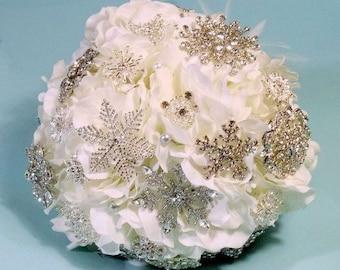 Keepsake Bouquet - Brooch Bouquet - Heirloom Bouquet - Bling Bouquet - Crystal Bouquet - Wedding Bouquet - Bridal Bouquet - DEPOSIT