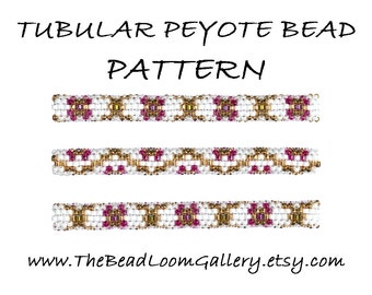 Tubular Peyote Bead PATTERN - Vol. 4 - Golden Net - PDF File PATTERN