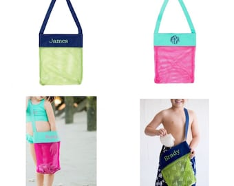 Summer personalized monogrammed sea shell tote