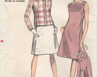 Vintage 1960's Vogue Pattern 7070 Size 12 Dress and Jacket