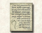 Maya Angelou Strong Women Series - 11x14 Cafe Mount Word Art Prints - Without Courage quote - Art Poster