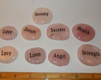 Rose Quartz Word Stones