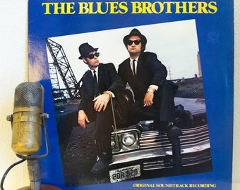 "ON SALE The Blues Brothers (John Belushi and Dan Aykroyd) Record LPs 1980s Chicago Blues Rhythm & Blues Stage and Screen ""The Blues Brothers"
