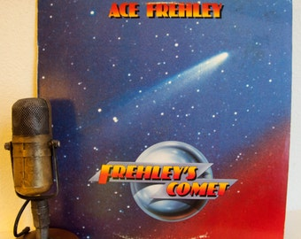 """ON SALE Ace Frehley (from 'Kiss') Vinyl Record Album Lp 1980s Rock And Roll Guitar Hero Jam """"Frehley's Comet"""" (1987 Megaforce w/""""Rock Soldie"""