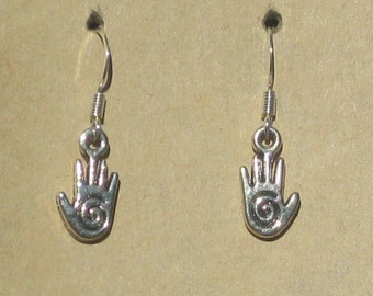 Reiki Healing Hand Earrings
