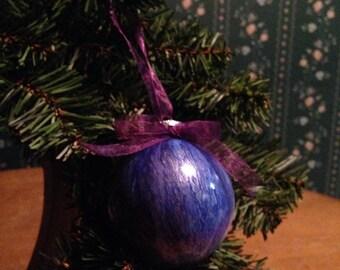Christmas Tree Decoration, Holiday Ornament, Holiday One Of  a Kind Painted Decoration, Xmas Painted Ornament, Holiday Decoration, Ornament