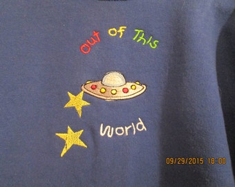 Boys Sweatshirt size 6-8 Out of this World