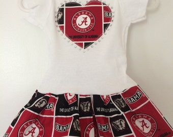 University of Alabama Inspired Infant Dress