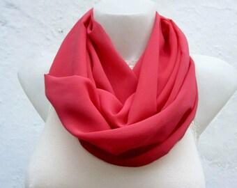infinity scarf Loop scarf Neckwarmer Necklace scarf Fabric scarf  Chiffon Scarf women scarf mothers day