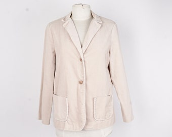 corduroy ladies ivory blazer 70s vintage jacket preppy women size small