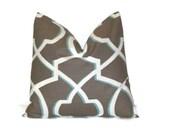 "SALE Pillow. Aqua Blue, Brown Decorative Pillows.Throw Pillows.ONE Pillow Cover.Cushion Cover.Slipcover.Lattice.18"" All Sizes Euro Sham"