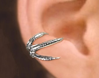 Talon Claw ear cuff Sterling Silver earrings Claw jewelry Claw earrings Sterling silver ear cuff Small clip men & women dragon C-150